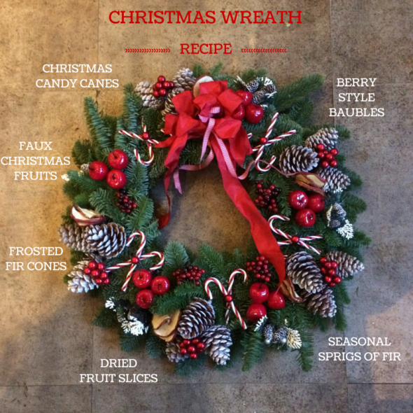 Christmas Wreath  Amanda Austin Flowers  Blog