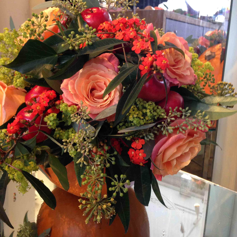 Amanda Austin London Florist Halloween Floral Arrangement Vuvuzela Rose Euphorbia