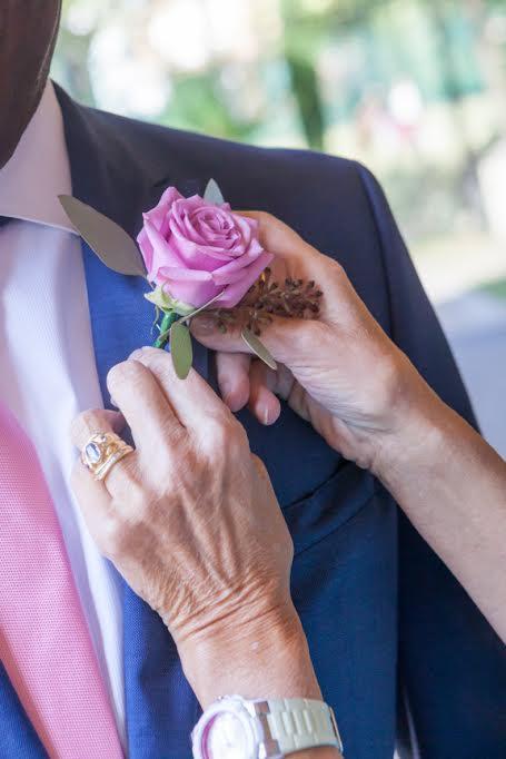 Amanda Austin London Florist September Wedding Buttonhole Cool Water Rose