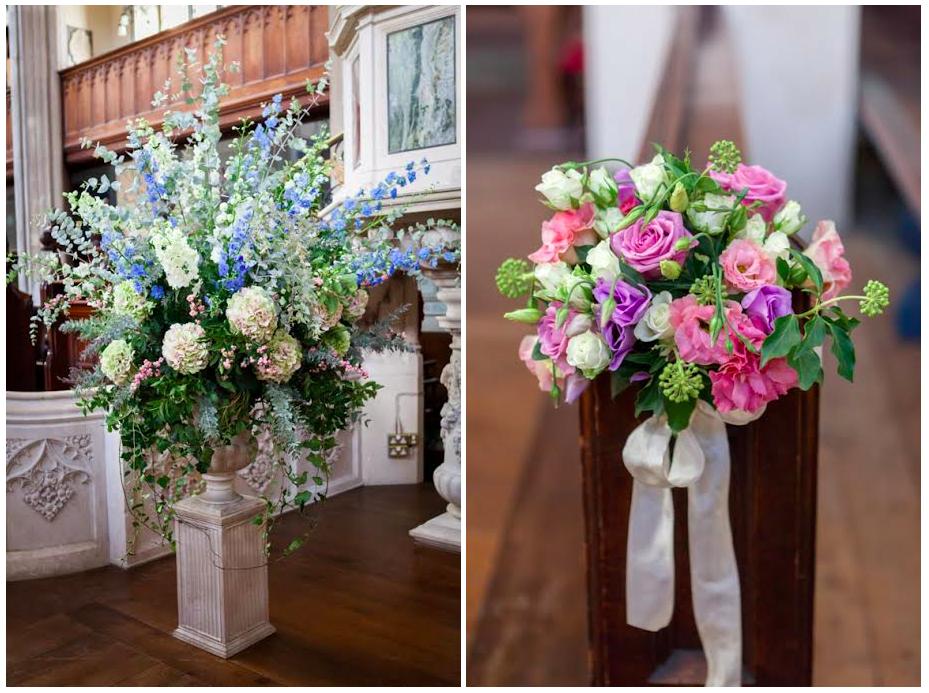 Amanda Austin London Florist September Wedding Urn Arrangement Pew End