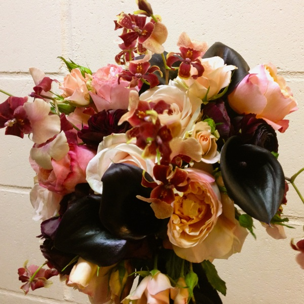 Amanda Austin Flowers Bridal Bouquet Winter Calla Lily Orchid