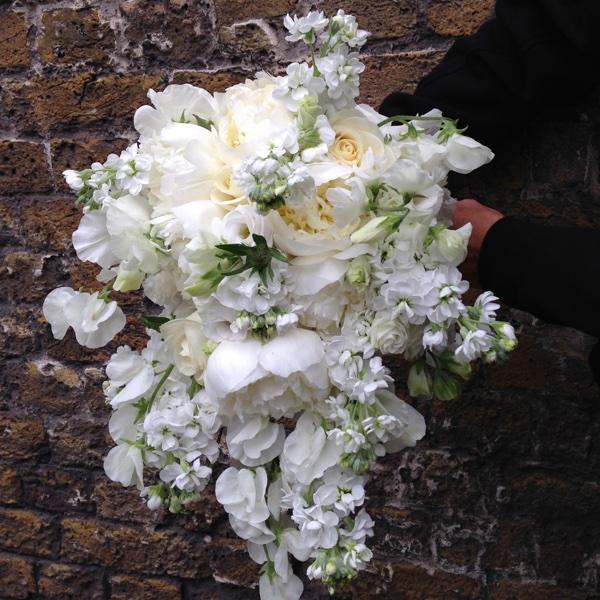 Amanda Austin Flowers Bridal Bouquet Peonies Sweet Peas Roses Stock